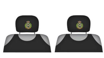 Universal Headrest Protective Covers RE Cap Badge